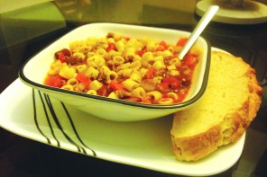 Pasta e fagioli a real mouthful