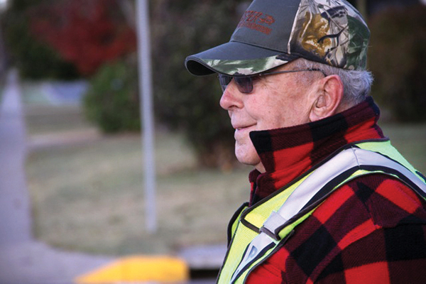 The 'happiest crossing guard in Harvey County'