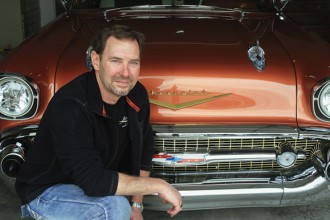 Newton resident and businessman Jim Tongish did most of the restorations on his 1957 Chevy Bel Air two-door hardtop. This car will be at the 11th Annual Newton Downtown Car Show onMay 2. Wendy Nugent / The Edge