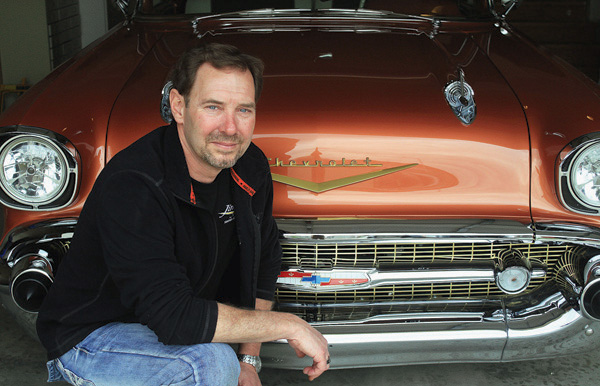 Newton resident and businessman Jim Tongish did most of the restorations on his 1957 Chevy Bel Air two-door hardtop. This car will be at the 11th Annual Newton Downtown Car Show on May 2. Wendy Nugent / The Edge