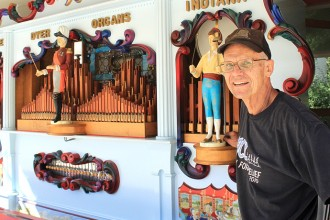 Jerry Toews of Goessel restored this band organ, which was built in the 1980s. It will be at Fall Fest on Saturday at Bethel College near the children's area. Wendy Nugent/Newton Now