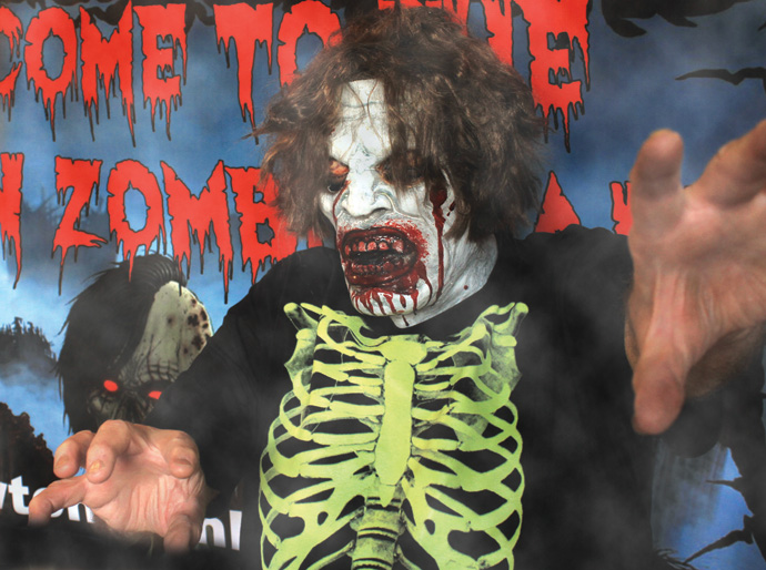 Dave Baughman, Newton Zombie Walk organizer, dresses up like a zombie. The event, which is on Saturday, Aug. 24, is a benefit for the Salvation Army. Wendy Nugent/Newton Now