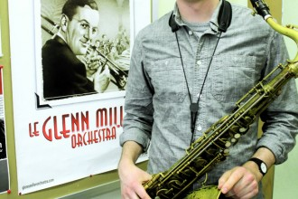 Bethel College instructor of music and director of jazz studies Joel Linscheid played with The World Famous Glenn Miller Orchestra for a year.