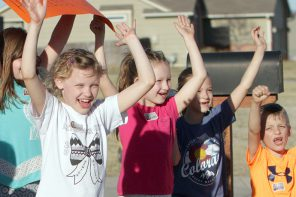Seven Newton neighborhood kids cook up food drive