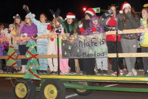 Parade lights up downtown Newton