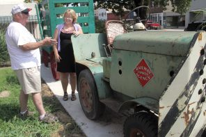 Railway Express Agency tractor moved to local museum
