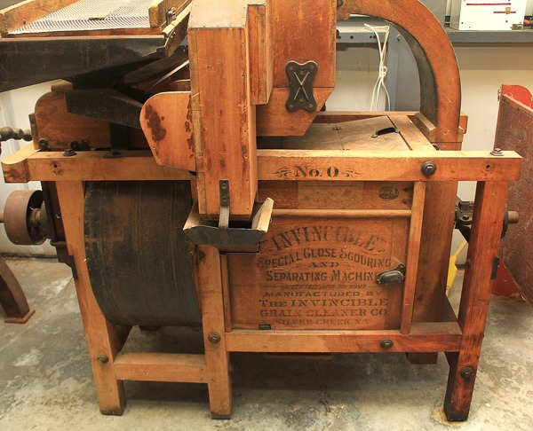 This piece of equipment on display at the Mennonite Heritage and Agricultural Museum in Goessel is from a flour mill near Moundridge. Wendy Nugent / The Edge