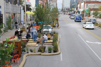 A ?Better Block? project was a big success in Kansas City in 2014. Photo from betterblock.org