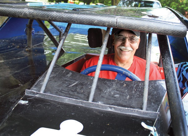 Dave Blocher in race car. Wendy Nugent / The Edge