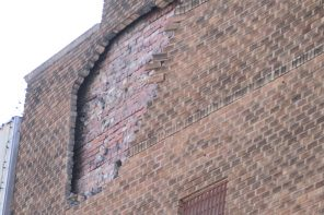 Crumbling building structurally unsafe
