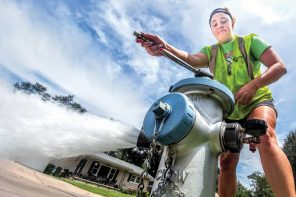 Testing the water: Summer workers flush hydrants