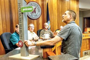 North Newton council talks littering, retirement, trauma, election