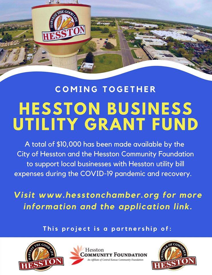 Hesston organizations offer business utility grant