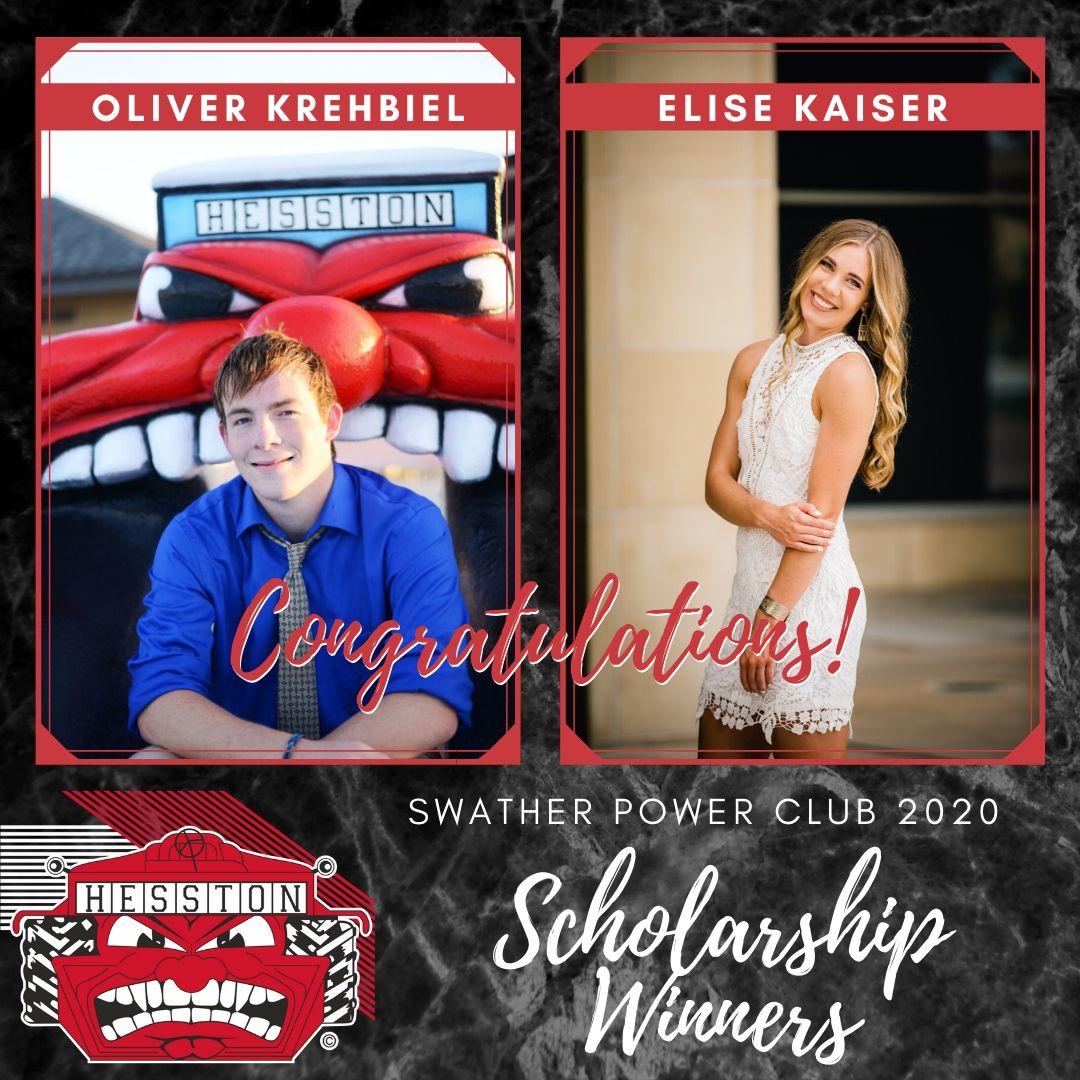 Elise Kaiser and Oliver Krehbiel awarded scholarships