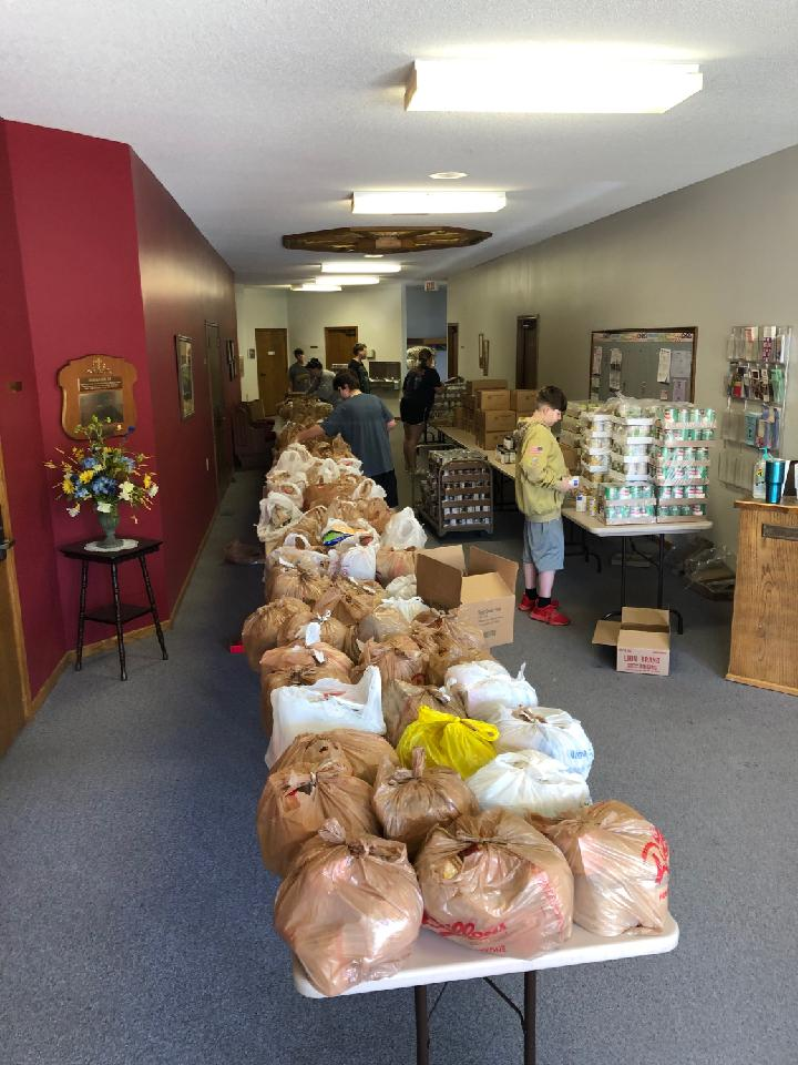 Local agencies gearing up for an extra delivery of food