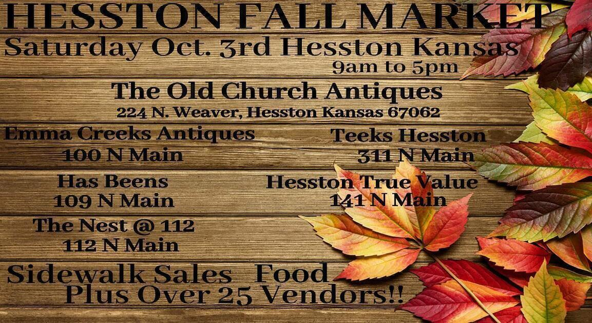 First Saturday in October will feel like an expanded Second Saturday in Hesston