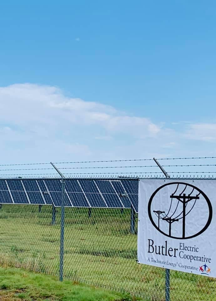 A photo of a solar farm