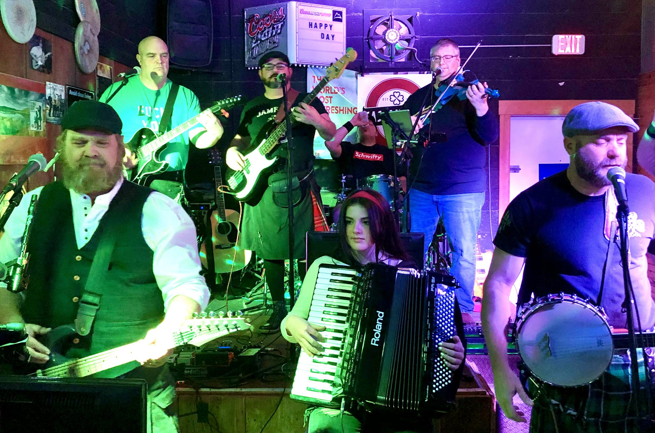 Meg Werner and the accordion go hand-in-hand