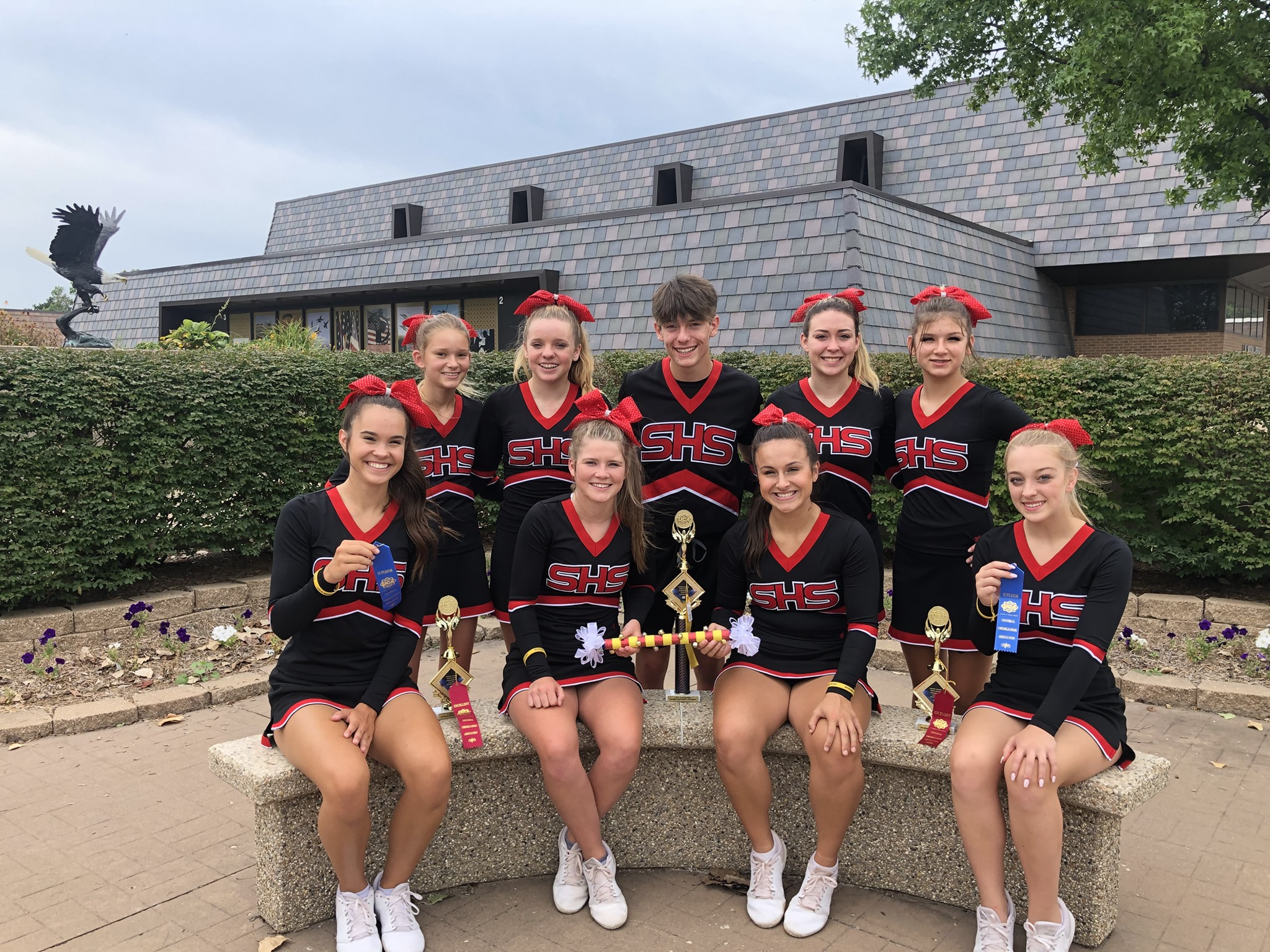 Sedgwick cheerleaders compete for the first time