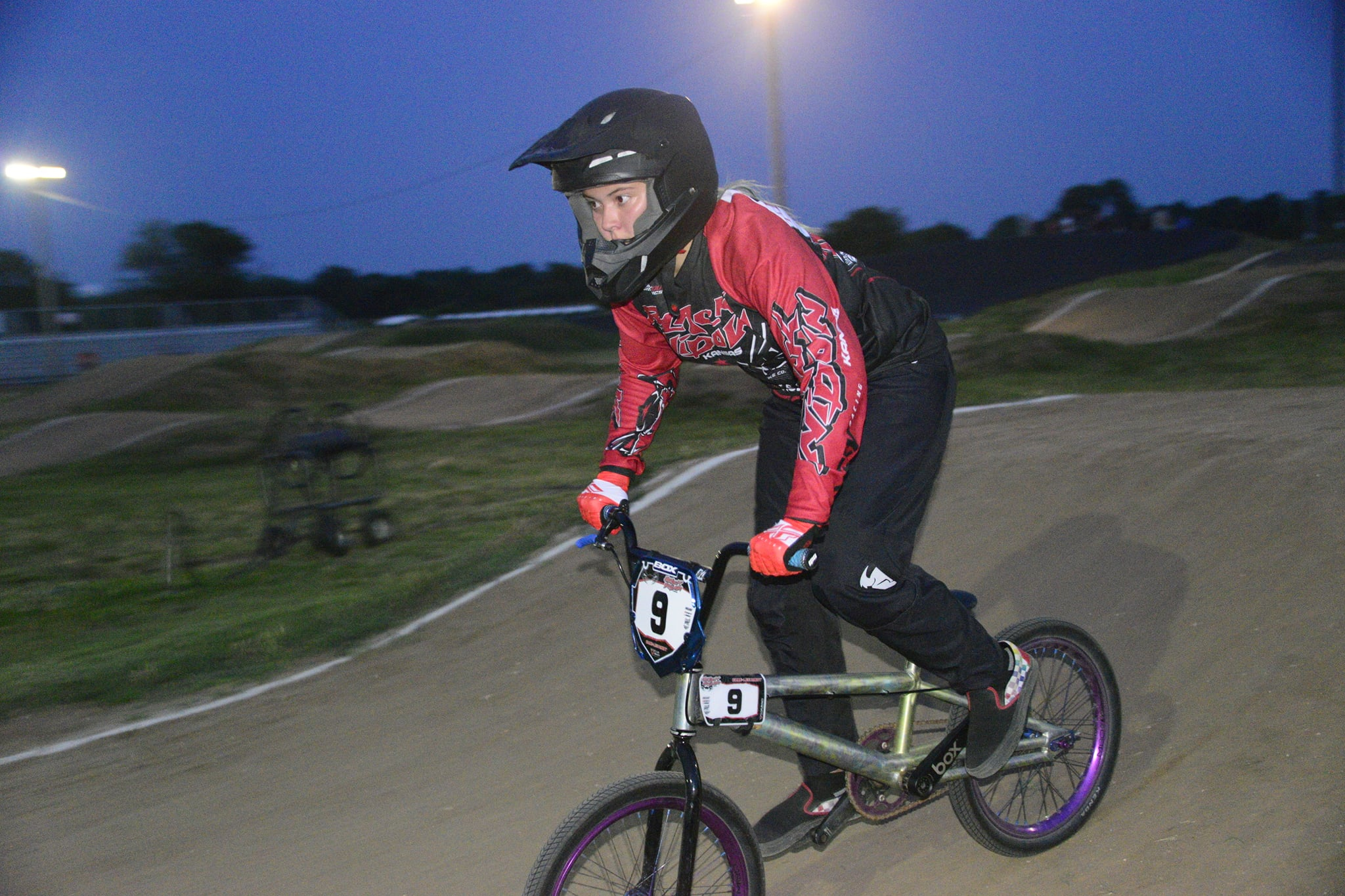 Sedgwick girl finds her niche on the BMX track