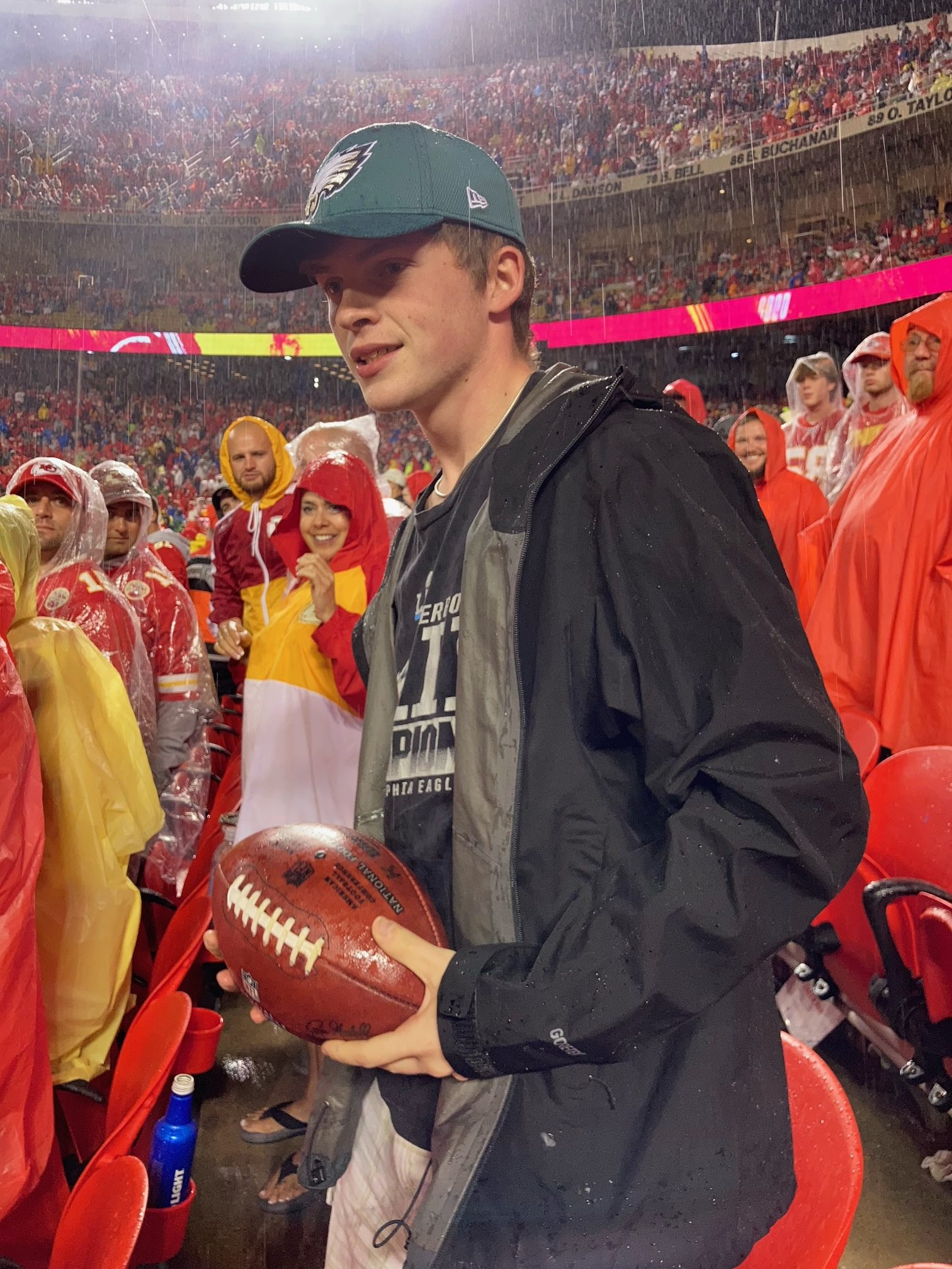 Sedgwick resident catches game ball after Chiefs field goal